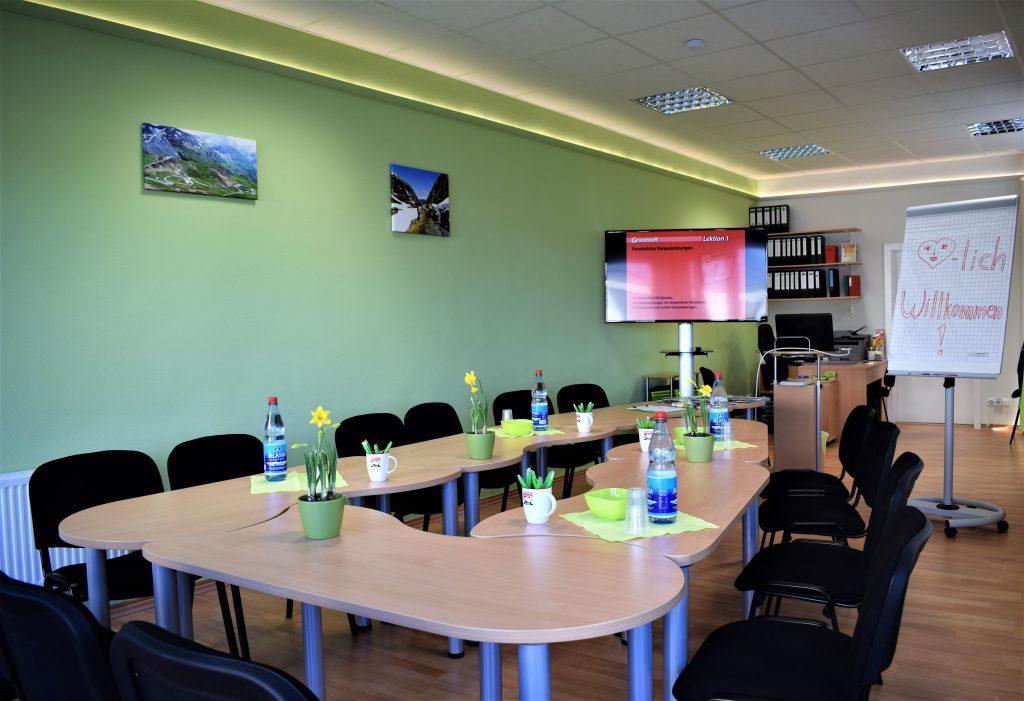 Unterrichtsraum der Olivers Fahrschule Darmstadt GmbH